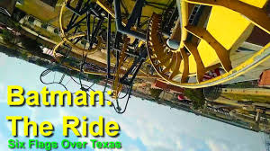 Six Flags Speed Pass Six Flags Over Texas Batman The Ride Roller Coaster Front Seat On