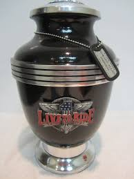 motorcycle urns 312 black live to ride motorcycle biker memorial cremation urn