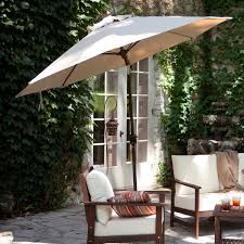 Patio Sets With Umbrellas by Patio Ideas Freestanding Patio Umbrella With White Cushion Patio