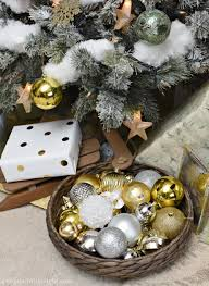 silver gold and light green snowy christmas tree a wonderful