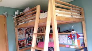 Ikea Wooden Bed Frame Small Double Ikea Loft Bed For Sale Video Youtube
