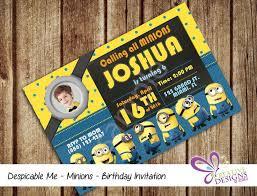 17 best minion invitation printables images on pinterest minion