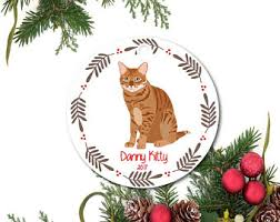 orange cat ornament etsy