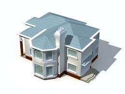 Modern Two Storey House 3d Model 3ds Max Files Free Download 3d House Building Free