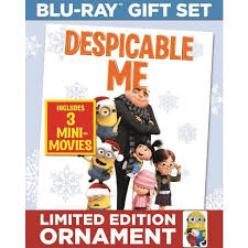despicable me 3 mini 2 discs with limited edition ornament