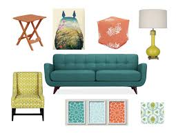 Muted Turquoise Burnt Orange Golden Yellow And Pea Green Color - Green and yellow color scheme living room