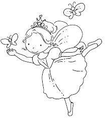 butterfly fairy coloring pages glum
