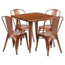 Copper Dining Sets Hayneedle - Copper kitchen table