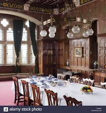 the dining room at knightshayes court devon stock photo royalty