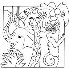 jungle animals coloring pages for kids kids drawing coloring page
