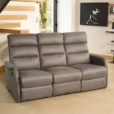 canapé electrique 3 places canapé de relax électrique 3p gris softy univers salon