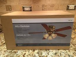 Brass Ceiling Fans With Lights by Hampton Bay Clarkston 44 In Antique Brass Ceiling Fan With Light