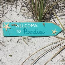 beach welcome sign wooden arrow beach signs beach home decor