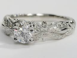 designer wedding rings eiros designer engagement ring in 14k white gold engagement
