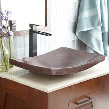 kohani curved copper vessel bathroom sink native trails