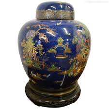 antiques atlas carlton ware ginger jar on chinese stand