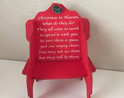 Empty Chair Poem Christmas Chair Etsy