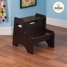amazon com kidkraft two step stool espresso toys u0026 games