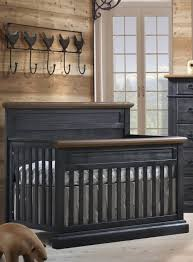 Black Convertible Cribs Natart Cortina Convertible Crib Black Chalet With Cognac N