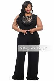 black jumpsuit sleeve plus size jumpsuit with sequin detailed top in black chic