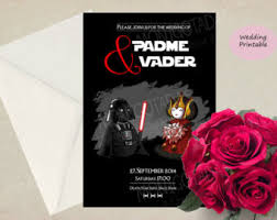 wars wedding invitations wars wedding invitations han and leia printable