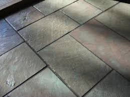 laying slate tile floor meze
