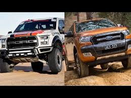 2018 ford ranger and ford f 150 raptor off road youtube