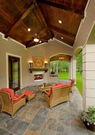 back porch furniture patio mediterranean with arched wall openings