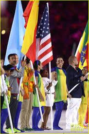 Ceremony Flag Simone Biles Carries American Flag During Rio Olympics 2016