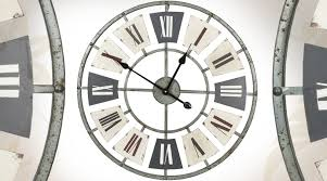 horloges murales cuisine grande horloge murale en métal de style industriel ø 60 cm