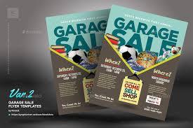 garage sale flyer templates by kinzishots graphicriver