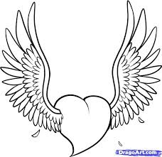 heart with wings tattoo sketch photo 4 real photo pictures