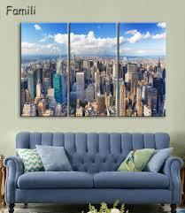 Peinture Moderne Pour Salon by Online Get Cheap 3 Panneaux New York Ville Image Toile Aliexpress