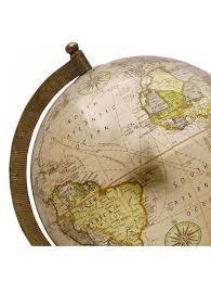 world globe home decor decorative big rotating earth globe beige ocean world geography