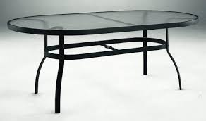 Black Glass Patio Table Woodard Aluminum Patio Furniture 42 X 72 Oval Glass Top Dining