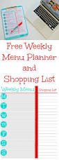 weekly family meal planner template free printable weekly menu planner and grocery shopping list mom this free printable weekly menu planner and grocery shopping list will help you plan your family