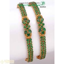 emerald gold necklace images 22k gold ruby emerald bangles indian gold jewelry buy online jpg