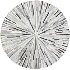 Modern Circular Rugs Starburst Grey Area Rug