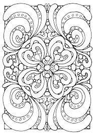 complex geometric heart coloring pages coloring