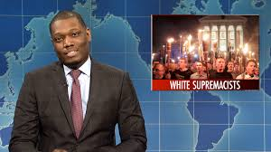 watch weekend update tina fey on protesting after charlottesville