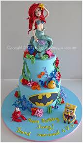 mermaid birthday cake ariel mermaid with spongebob birthday cake in sydney birthday