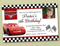 photo personalised cars birthday invitations you print by deezee