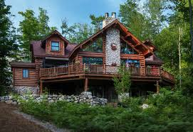 chalet style house dickinson homes hybrid log chalet style home mancelona mi