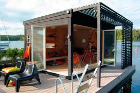 small guest house designs small prefab houses small house plans modern kenjo cabin is a solar powered floating room for a family