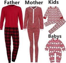 Fashion Men Blouse T Shirt Tops Plaid Pants Pajamas Christmas Family
