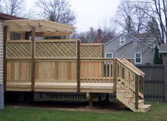 Backyard Privacy Screens by Deck Railing Lattice Panels Nice For Privacy But Still Airy
