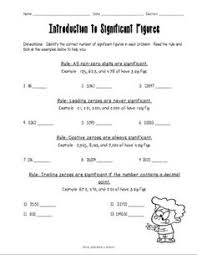 free homework worksheet with answer key significant figure