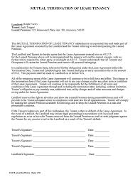 mutual termination of lease tenancy ez landlord forms