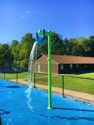 single bucket dump water play features by my splash pad