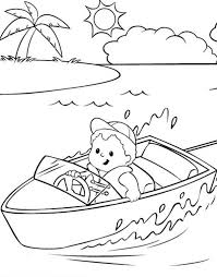 River Boat Coloring Pages Batch Coloring